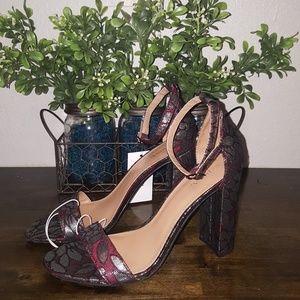 NWT Merona Floral Heels, Size 8.5
